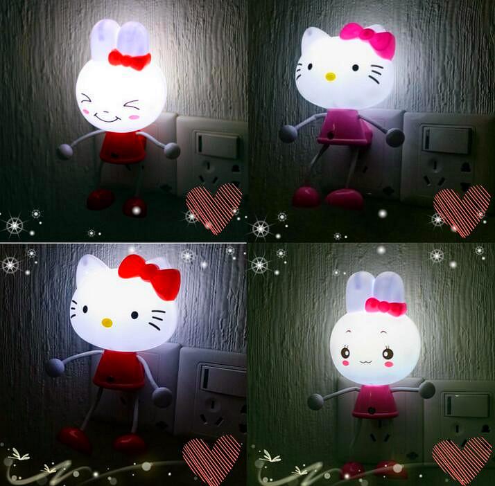 Hello Kitty Home Decor: Hello Kitty Sensor US EU Plug LED Photoreceptor Night
