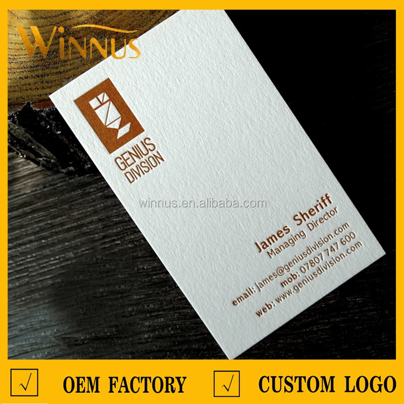 600g thick cardboard cotton paper business card, letterpress business card
