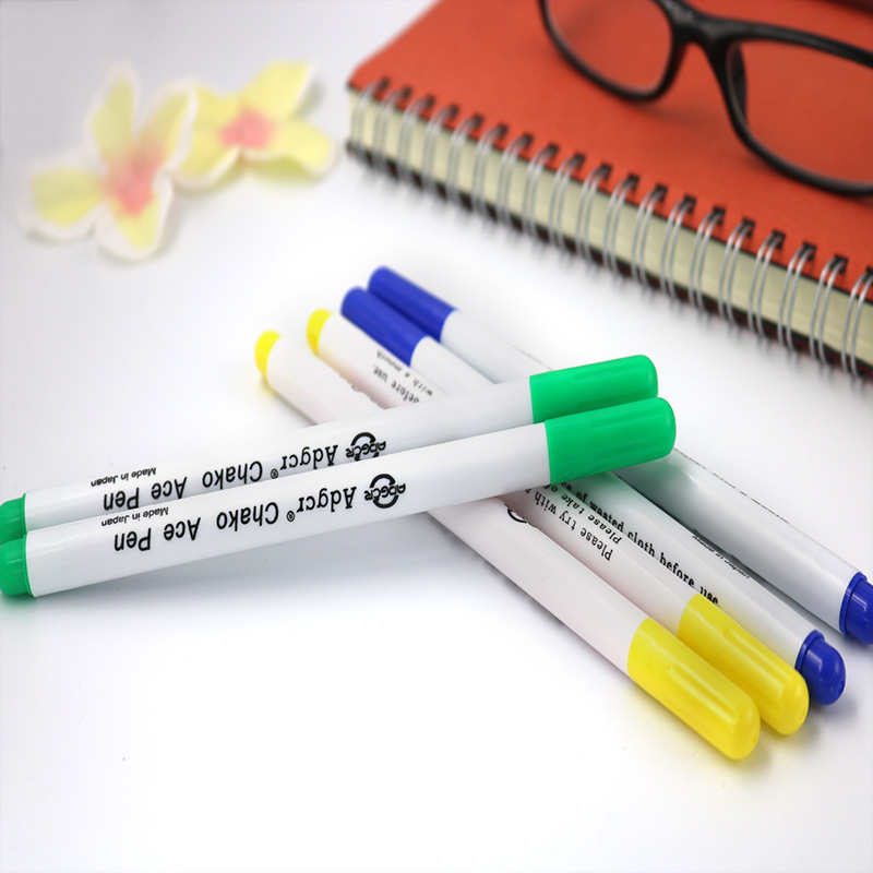 1pcs Fabric Marker Hydrolysis Water Soluble Pen Automatically Fade Disappear Cancellation Pens Clothing Sewing Tool Accessory