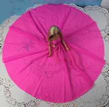 2015 New Beautiful Handmade Party Clothes Fashion Dress for Noble Barbie Doll free shipping h134