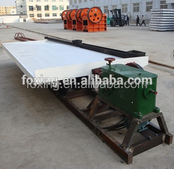 factory price gold ore dressing table for gold ore concentrating