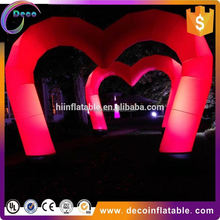 Inflatable wedding LED decorations arches cone tube ,lighting balloons cone arch for sale