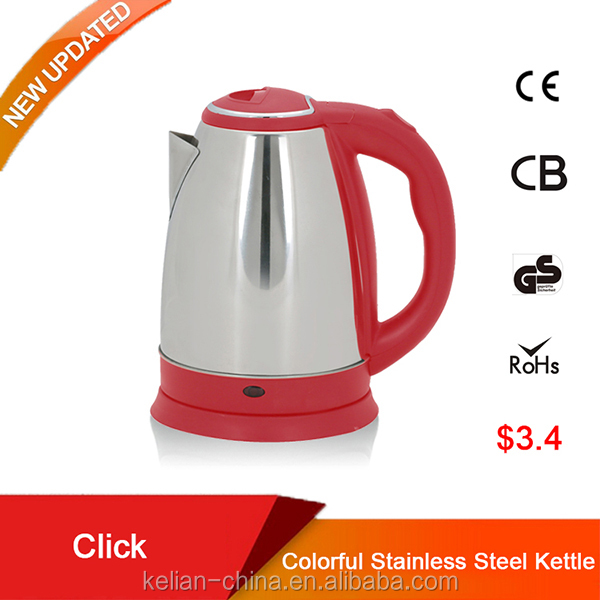 1.8L small size electric stainless steel bottles/thermos kettles