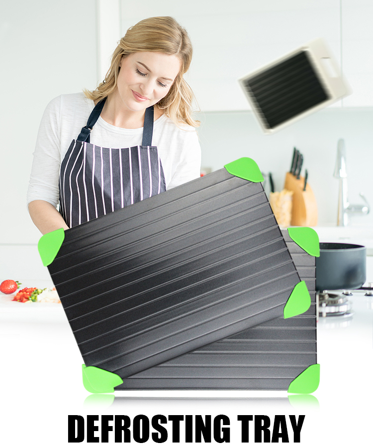 2018 Amazon Best Selling Products Teflon Coating Safest Way Thawing Plate To Defrost Meat Fast Defrosting Tray for Frozen Food