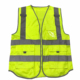 Cheap hi vis traffic security guard safety vest Reflective safety Vest with many pockets for construction workers