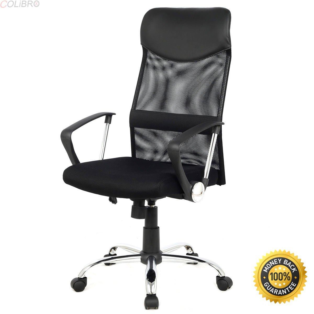 COLIBROX--Modern Ergonomic Mesh High Back Executive Computer Desk Task Office Chair Black