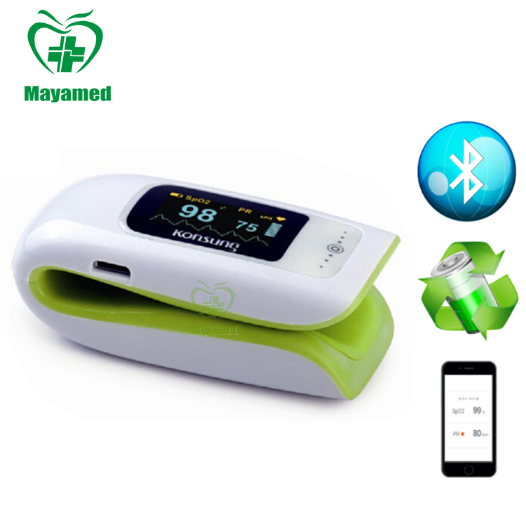 MY-C013A MAYA medical equipment Home Care Blue Tooth Option New finger Pulse Oximeter with good price