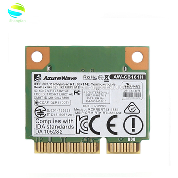 Dual Band WiFi Bluetooth Card 433Mbps Realtek RTL8821AE  AW-CB1802 11a/b/g/n/ac 2 4/5G BT 4 0 Combo Wireless Half Mini PCI-E Wlan,  View RTL8821AE, For