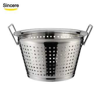 Vegetable Stainless Steel Basket Colander Strainer with Handle