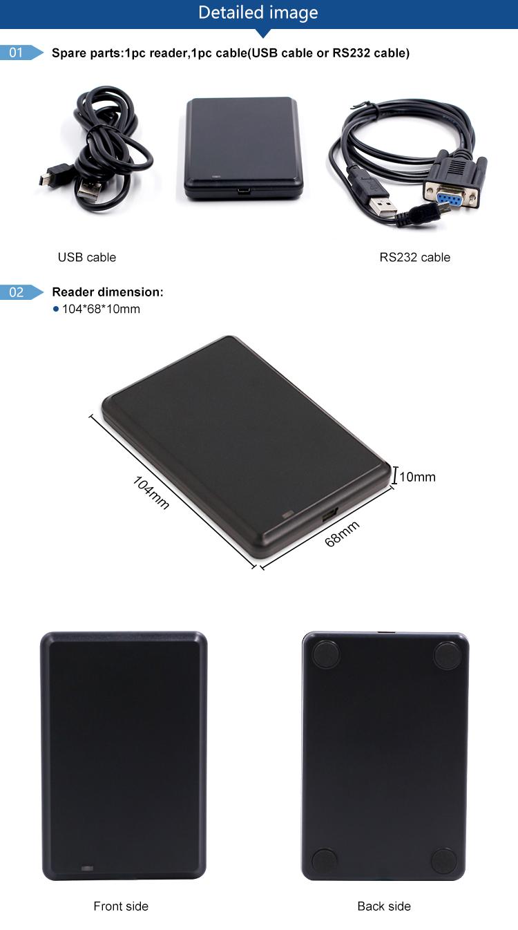 CHAFON CF-RH320 13.56mhz rfid reader long range smart ic card reader writer iso 15693 rfid reader