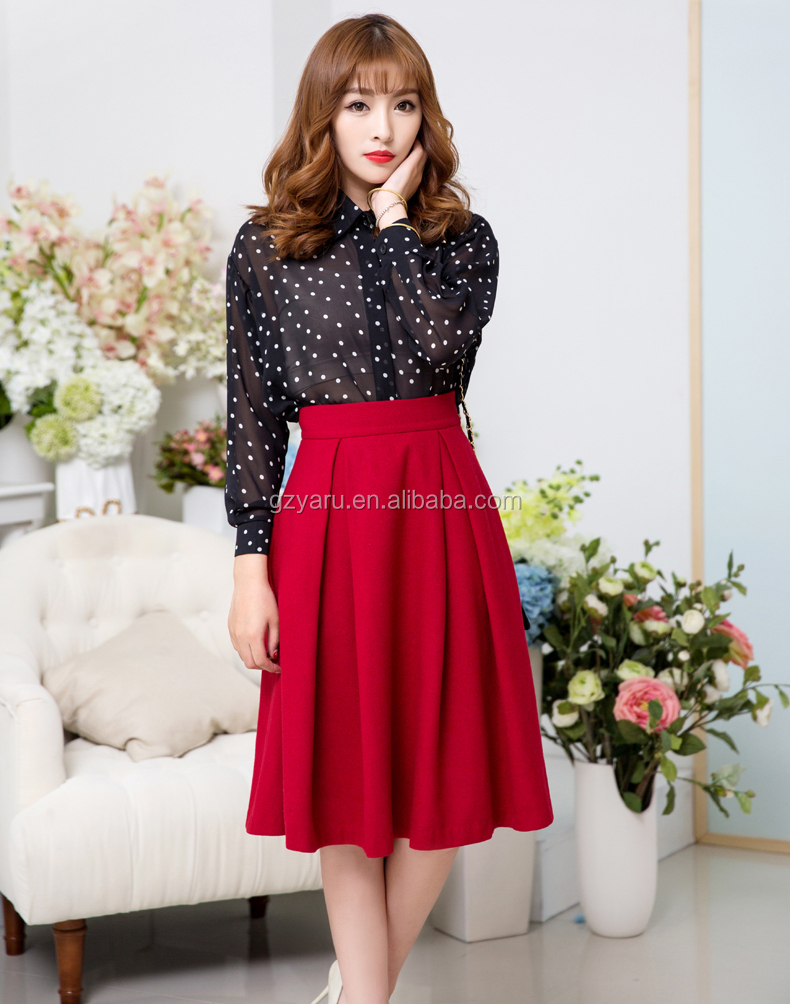 2014 Latest Christmas Fashion Long Skirt Caual Designer Ladies ...