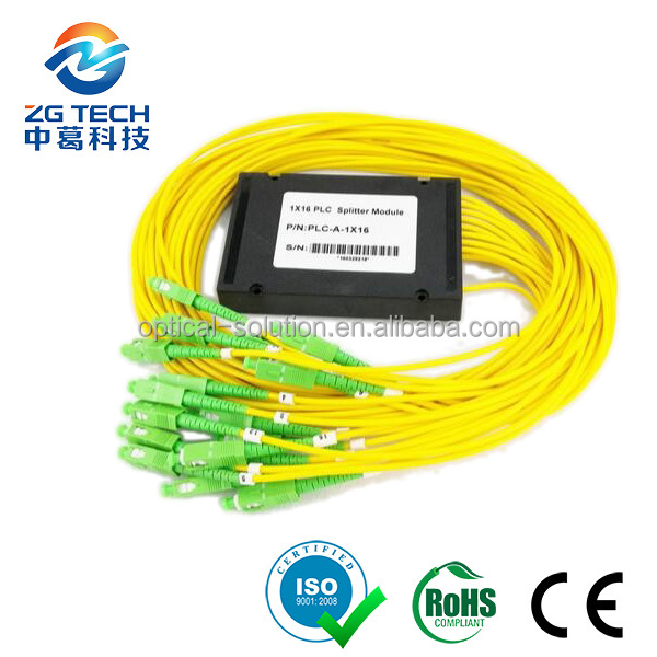 GPON Single Mode 1x16 Cassette fiber plc splitter coupler