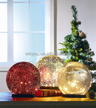 battery powered mercury glass ball light christmas decoration supplies - Battery Powered Christmas Decorations