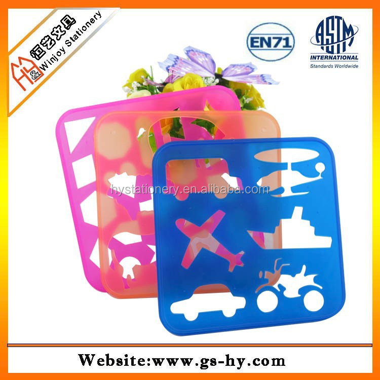 Wholesale PP material kids flower drawing stencil - Alibaba.com