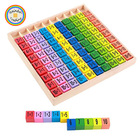 YHBG035 RDT Kids Wooden Early Intelligence Numbers Color Match Math Multiplication Learning Educational Toys Teaching Aids