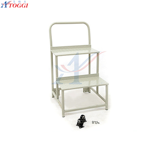 safety 3 tiers iron step ladder