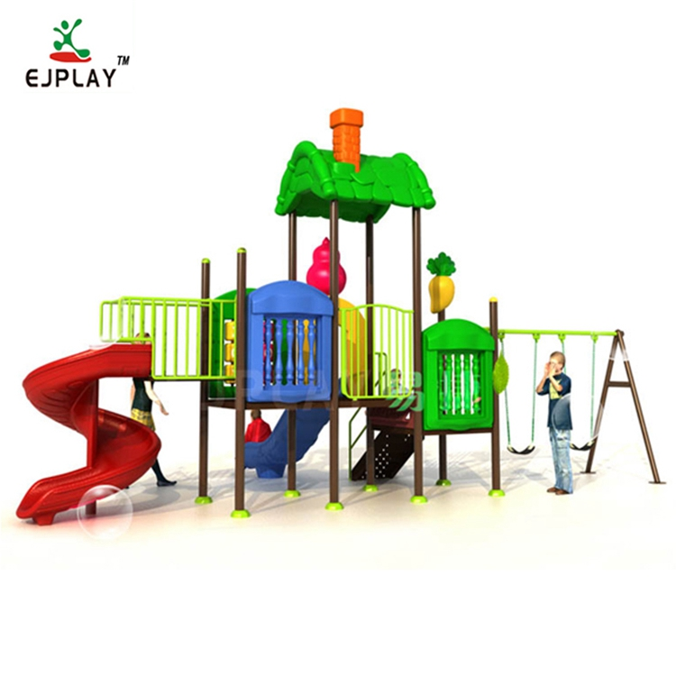 Plastic Slide Type Plastic Swing And Slide Kids Outdoor Playground