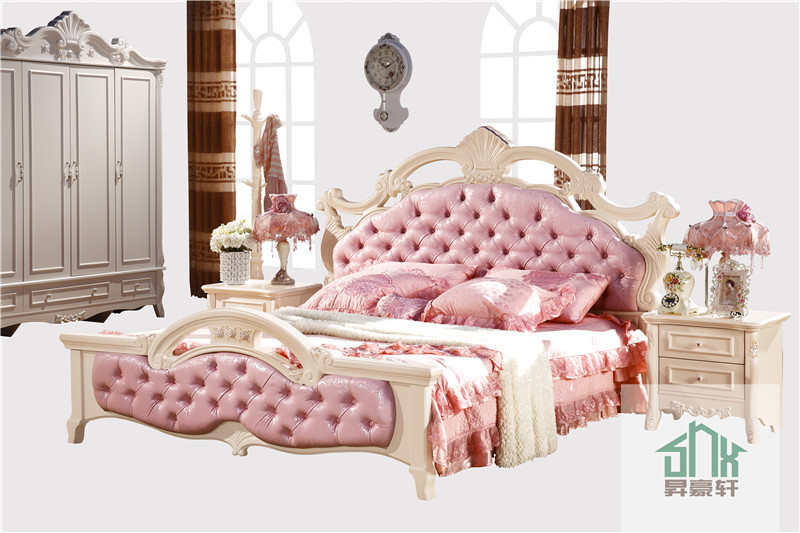 Bedroom Furniture HA-906# french wood antique bed chiniot ...