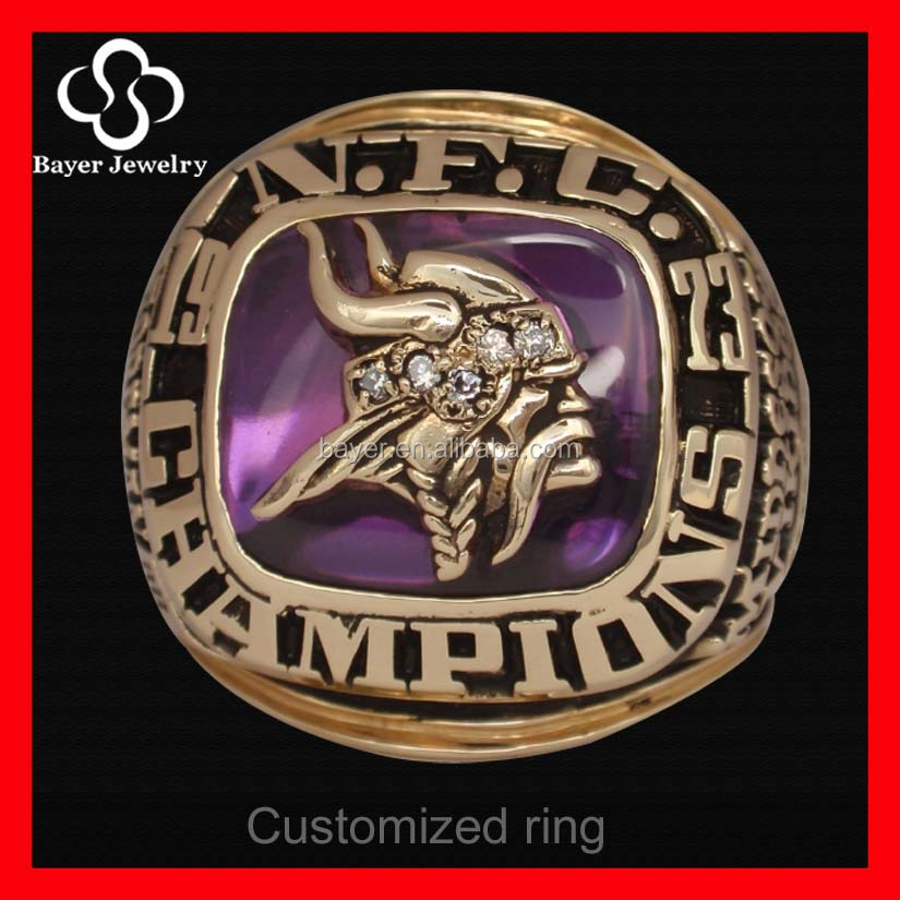 Jewelry Stainless Steel Championship Ring with different name