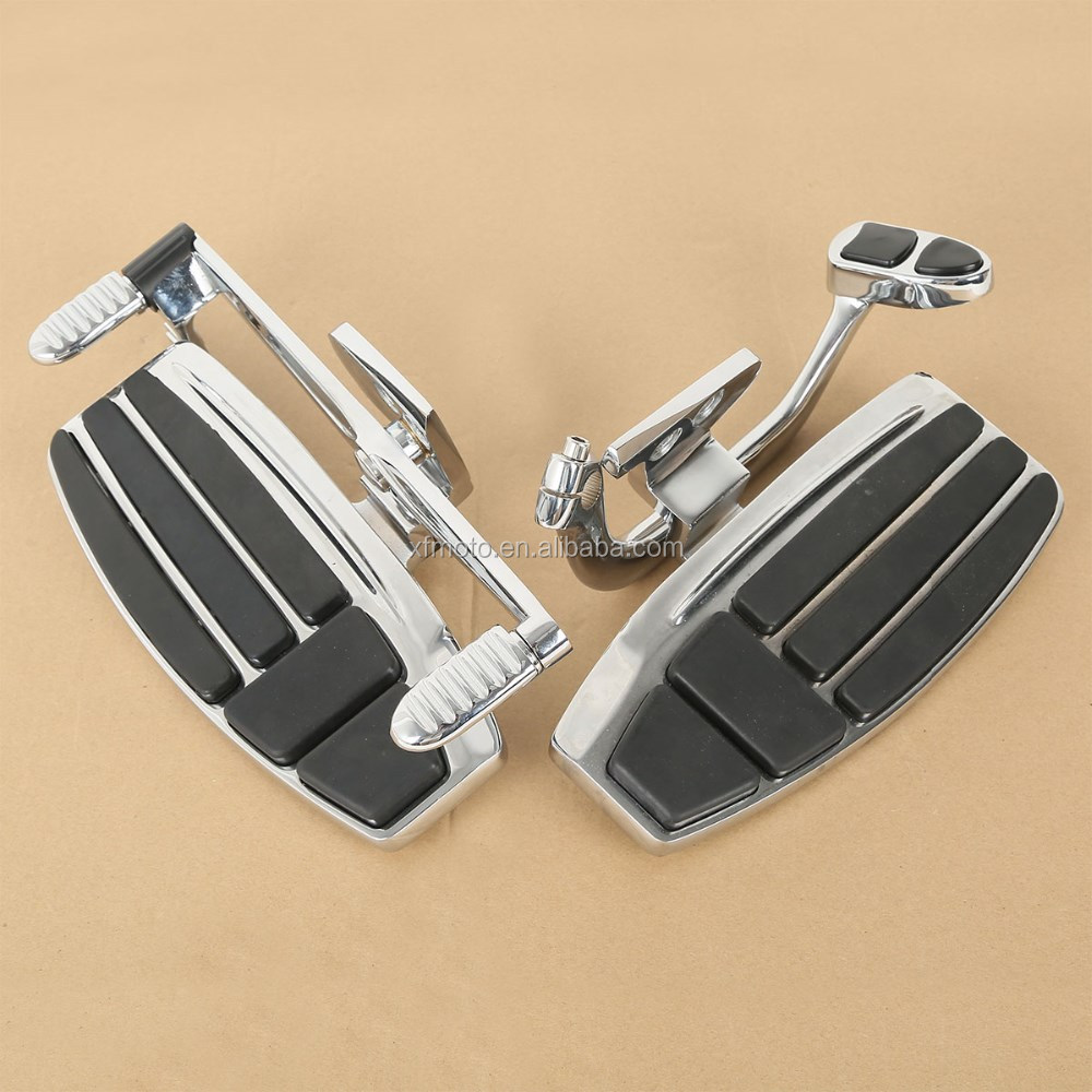 Motorcycle Driver Foot Board Floorboard Kit For Honda Goldwing GL1800 Valkyrie 01-15