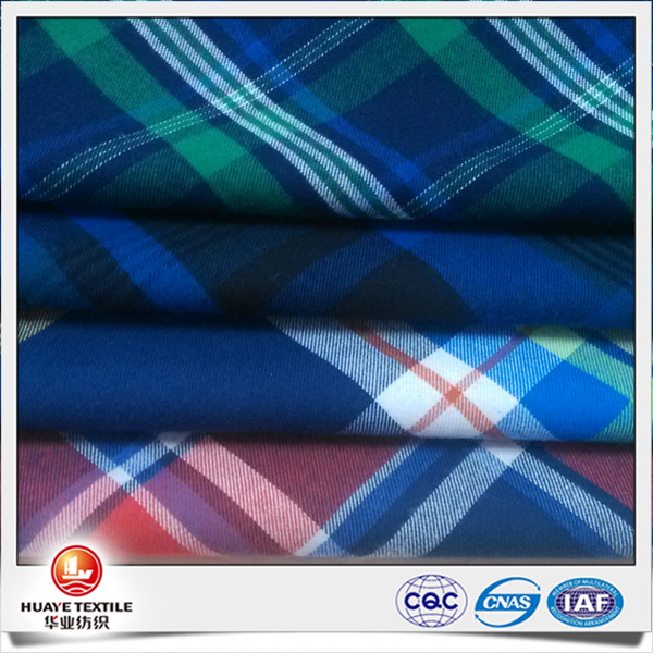 High quality 100 cotton twill yarn dyed flannel pajama fabric