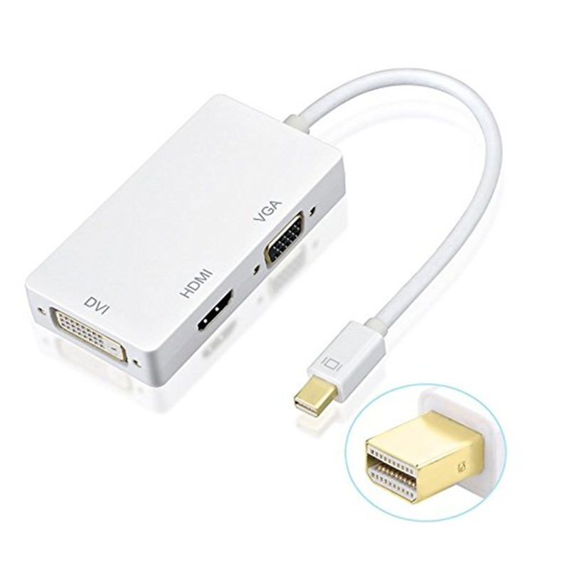 Mini DVI to VGA Monitor Video Adapter Cable for Apple MacBook UP