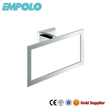 empolo wholesale bathroom accessories square towel ring brass chrome plated