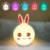 RGB changing Color Cute Animal soft LED Silicone Baby Night Light with Touch Sensor (Rabbit) Night Light for Kids