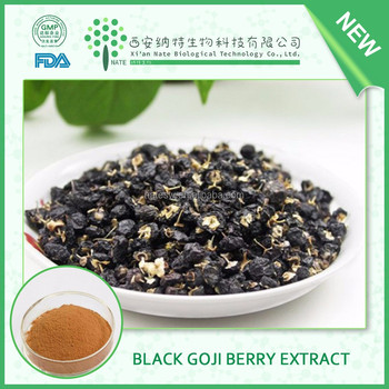 ISO9001 Certificated Organic Black Goji berry extract 50% polysaccharides from China supplier