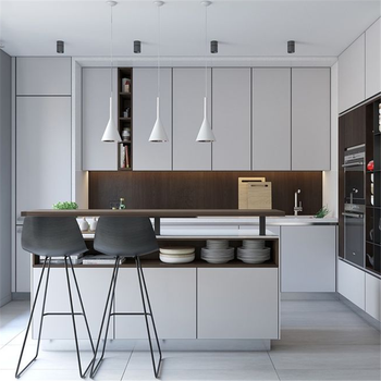 Foshan Moderno Color Blanco Puro Kitchen Cabinet Set With Hot Sale