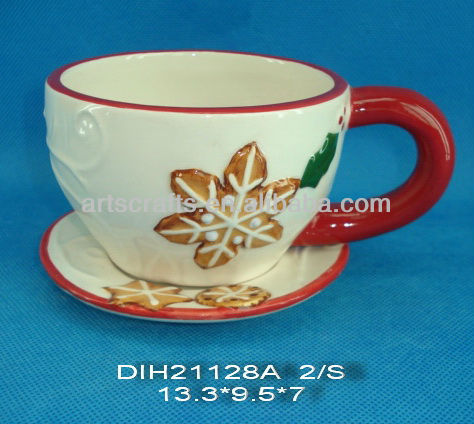 Christmas cup and saucer set
