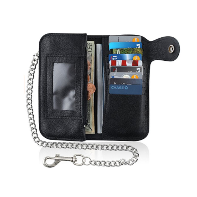 Promotional Long Style Mens Wallets Mini Travel Wallet Chain Wallet