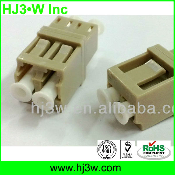 LC/UPC MM DX Fiber Optic Adapter Manufacturer,Ceramic Sleeve,IL less than 0.2dB
