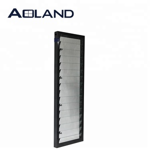 Modern interior glass louver doors with fly net screen