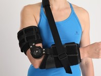 best selling products Hinged rom black orthopedic elbow braces for hospital equipment