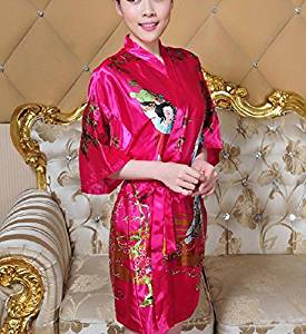 08eed2d9a8 Get Quotations · XH G Short Chinese bathrobe home costume dress women