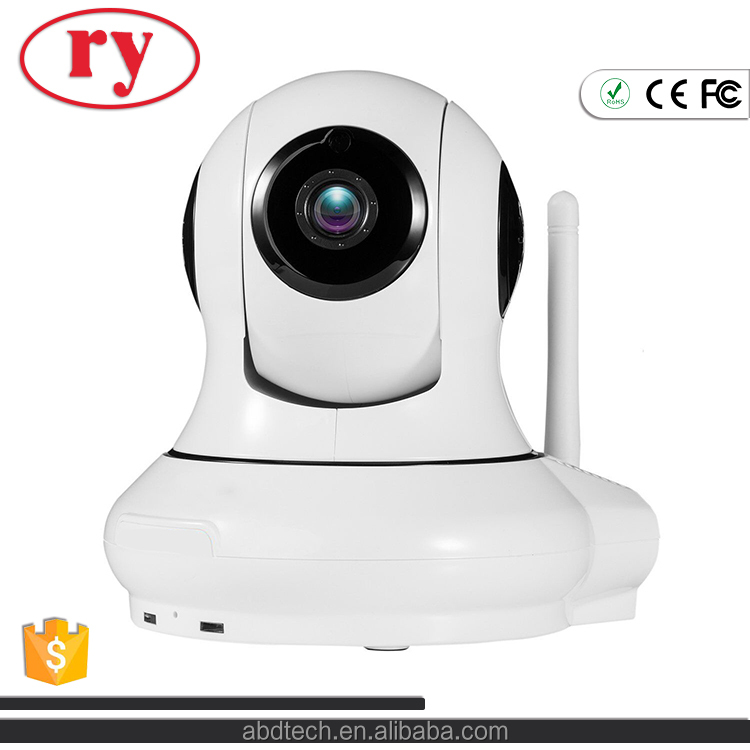 1280x720P WiFi Wireless IP Security Surveillance Pan & Tilt Camera with Two-Way Audio and Night Vision