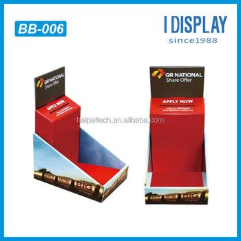 Small printable counter cardboard business card display for Business card display template