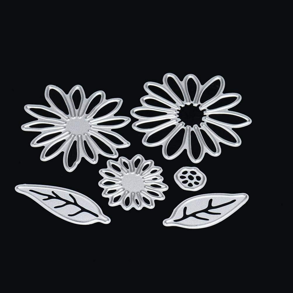 Cutting Dies,Pollyhb New Metal Cutting Dies Stencils Scrapbooking Embossing DIY Crafts,Various flowers,For Card Making Scrapbooking (H:5CM)