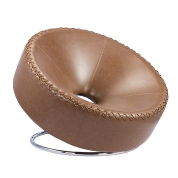 European Big Round Chaise Lounge Reclining Chair In Living Room