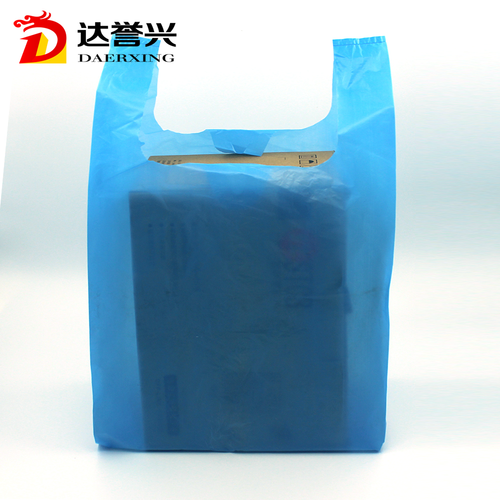 low price vest handle t-shir plastic bag for fashion product packing
