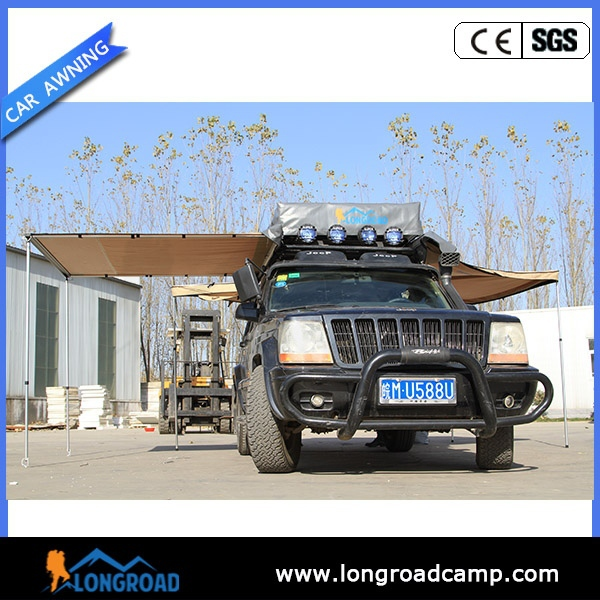 Waterproof Auto Camping Retractable Car Awning/Roof Rack Awning Tent