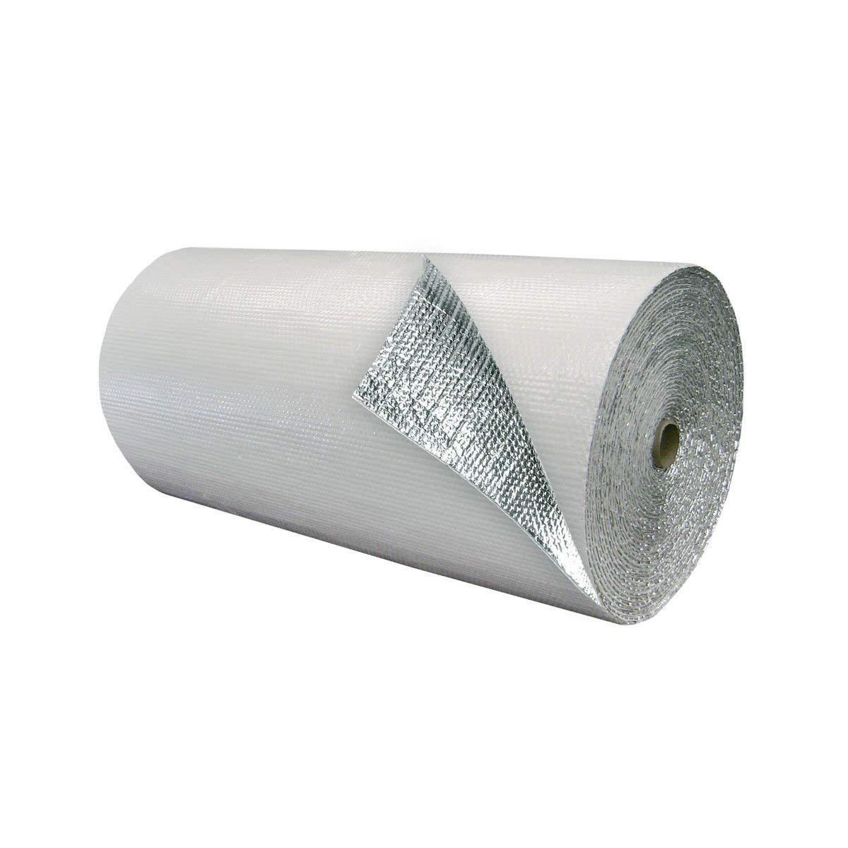 """MWS IES 12"""" x 100' White Double Bubble Reflective Foil Insulation Thermal Barrier R8"""