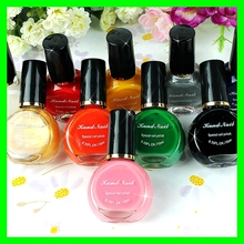 10 Colors uv gel nail polish for nail stamping plates acrylic paint free shipping