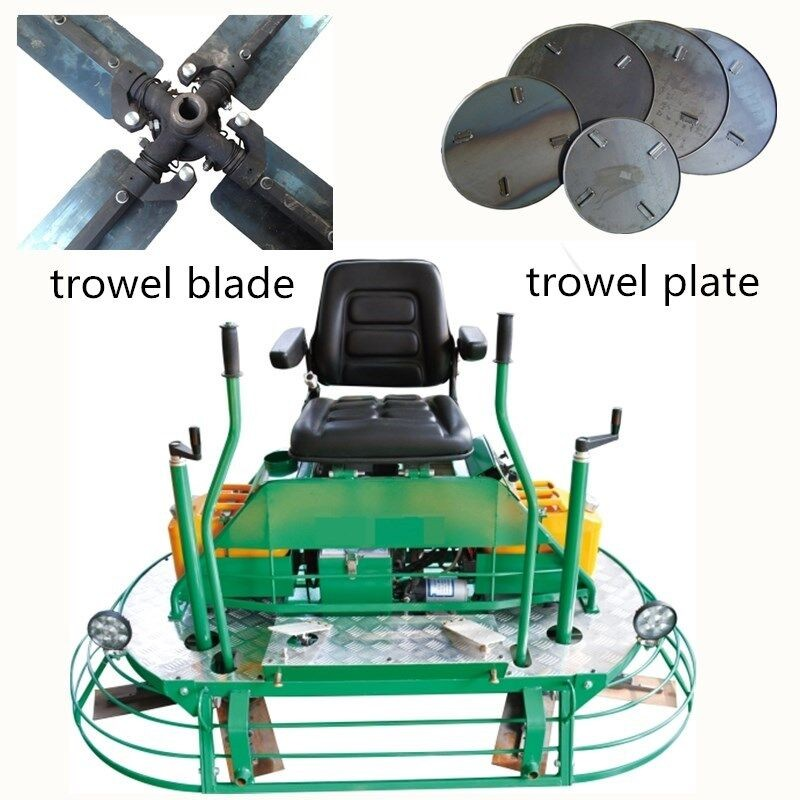 Driving type power trowel machine