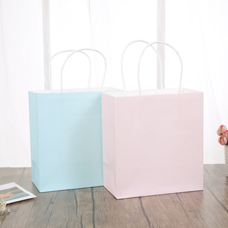 120 gsm/Customized Colored Paper Kraft Bag with Handle