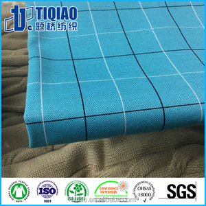 Pure cotton yarn dyed check jacquard golf shirt fabric