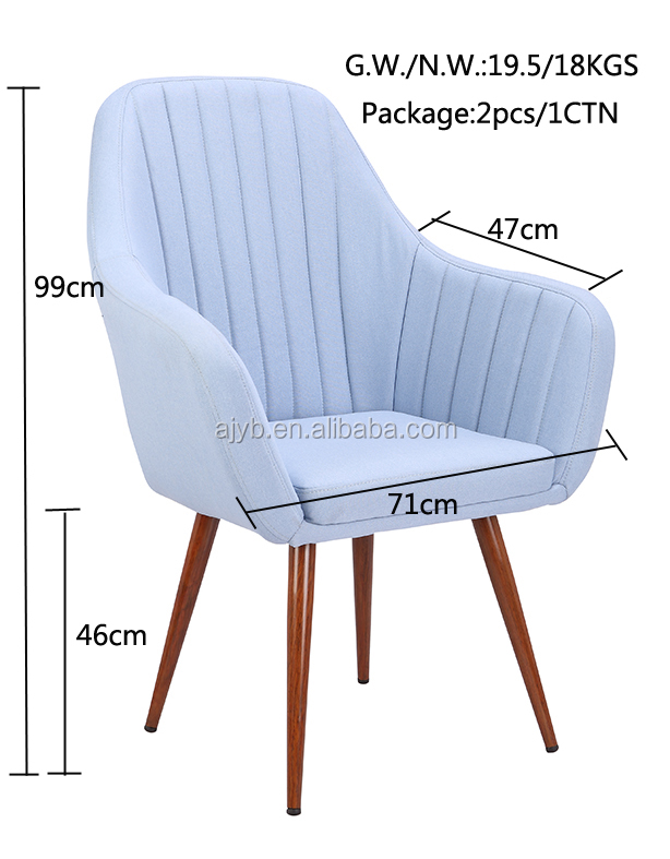 Coffee Shop Chair Home Accent Armchair Fabric Living Room arm chair