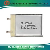 LIPO single cell 3.7v 1000mah rechargeable heated trouserse li-ion battery lipo battery for quadcopter