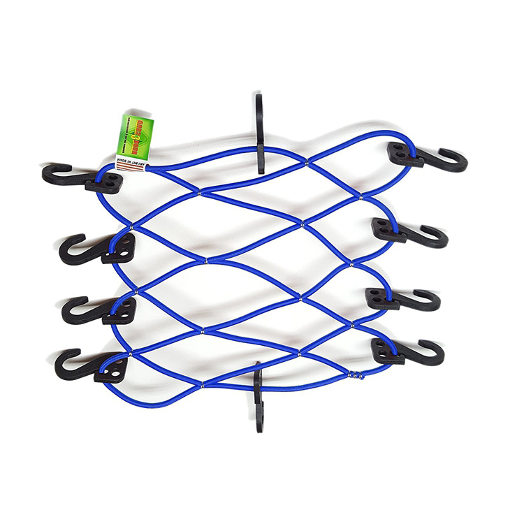 Mark-down Sale Knotted Rope Motorcycle Cargo Net Plastic Hooks